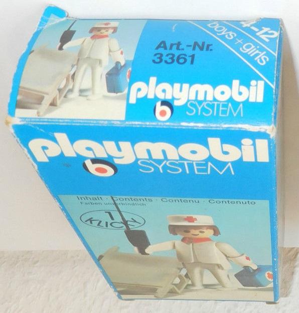 Playmobil 3361 - Nurse / stretcher - Back