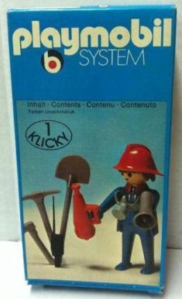 Playmobil 3366 - Fireman & loudspeaker - Box