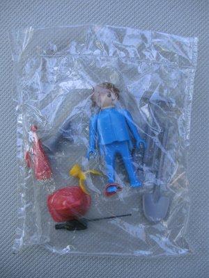 Playmobil 3366 - Fireman & loudspeaker - Back