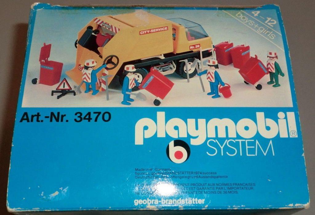 Playmobil 3470v1 - Recycling Truck - Back