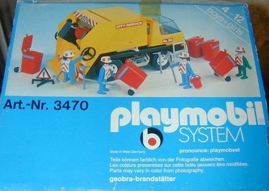 Playmobil 3470v3 - Recycling Truck - Box