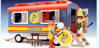 Playmobil - 3477v1 - Circus Clown Trailer