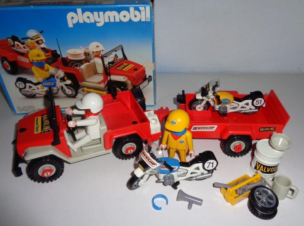 Playmobil 3478 - Jeep & race motorbikes - Back