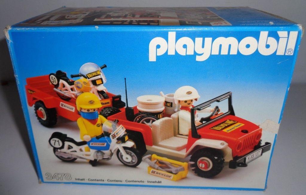 Playmobil 3478 - Jeep & race motorbikes - Box