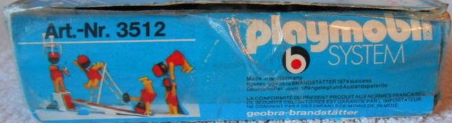 Playmobil 3512 - Circus acrobats - Back