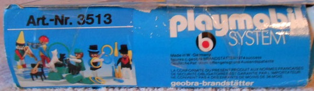 Playmobil 3513 - Circus people - Back