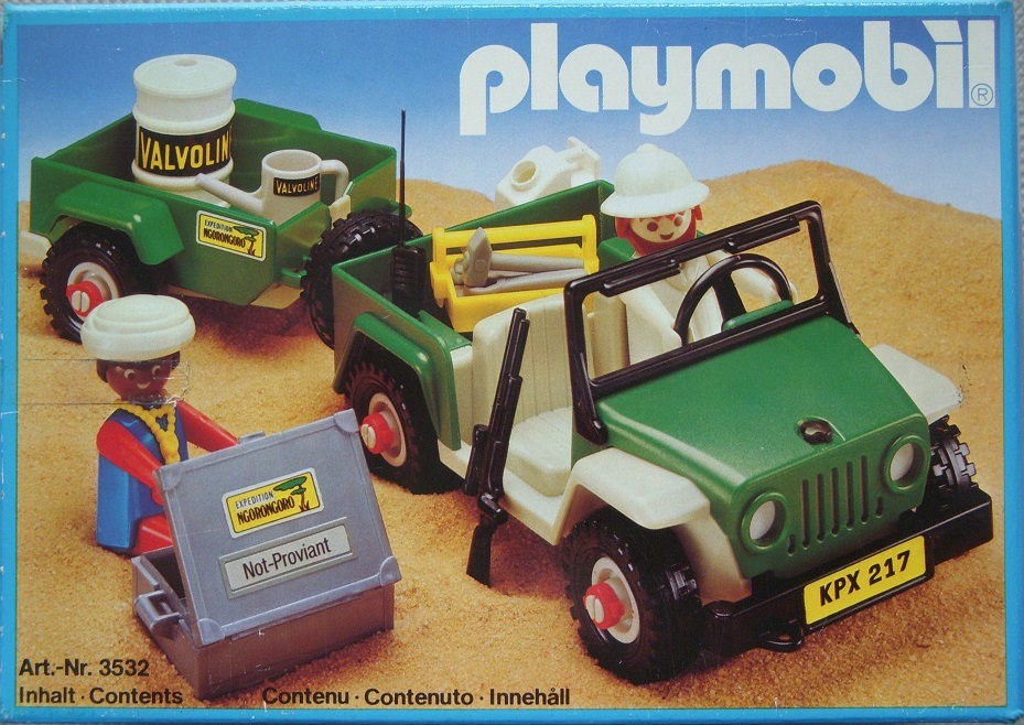 Playmobil 3532v2 - Green jeep in the desert - Box