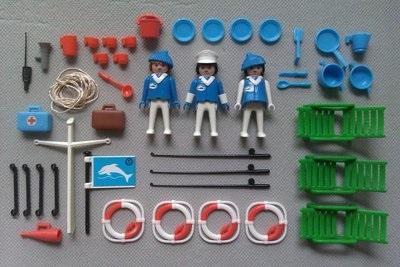 Playmobil 3540v1 - Houseboat - Back