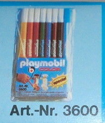 Playmobil 3600 - Color Markers, 8-pack - Box
