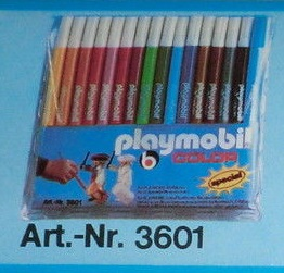 Playmobil 3601 - Pen Set 16 pieces - Box