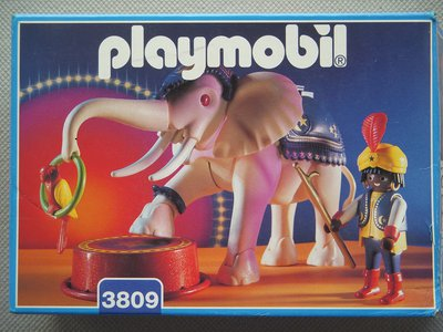 Playmobil 3809 - White Elephant with Trainer - Box