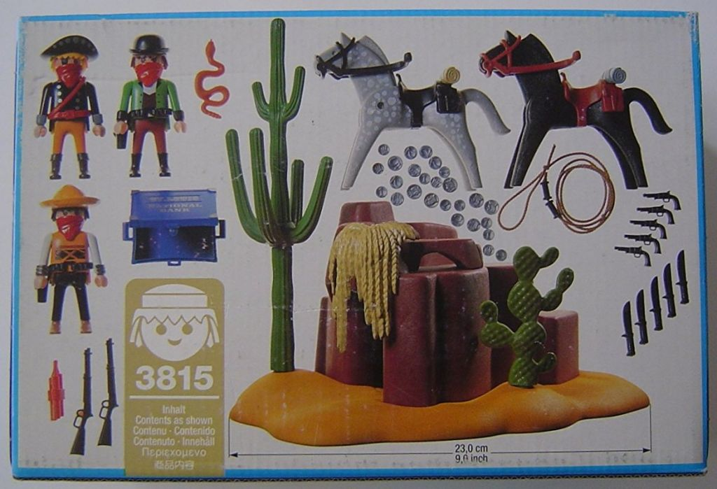 Playmobil 3815 - Outlaws Hideaway - Back