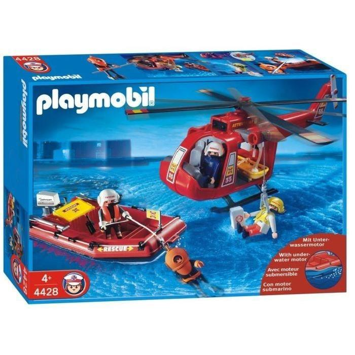 Playmobil 4428 - Rescue helicopter and boat - Box