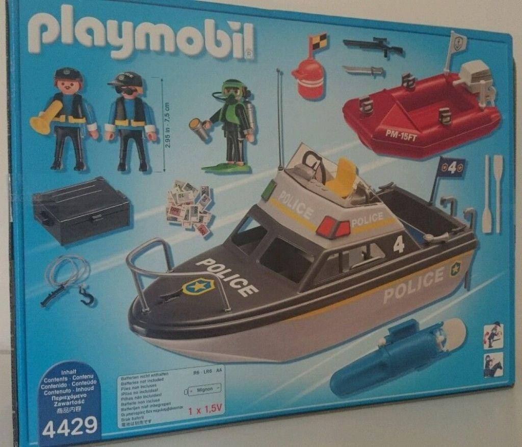 Playmobil 4429v1 - Police launch - Back