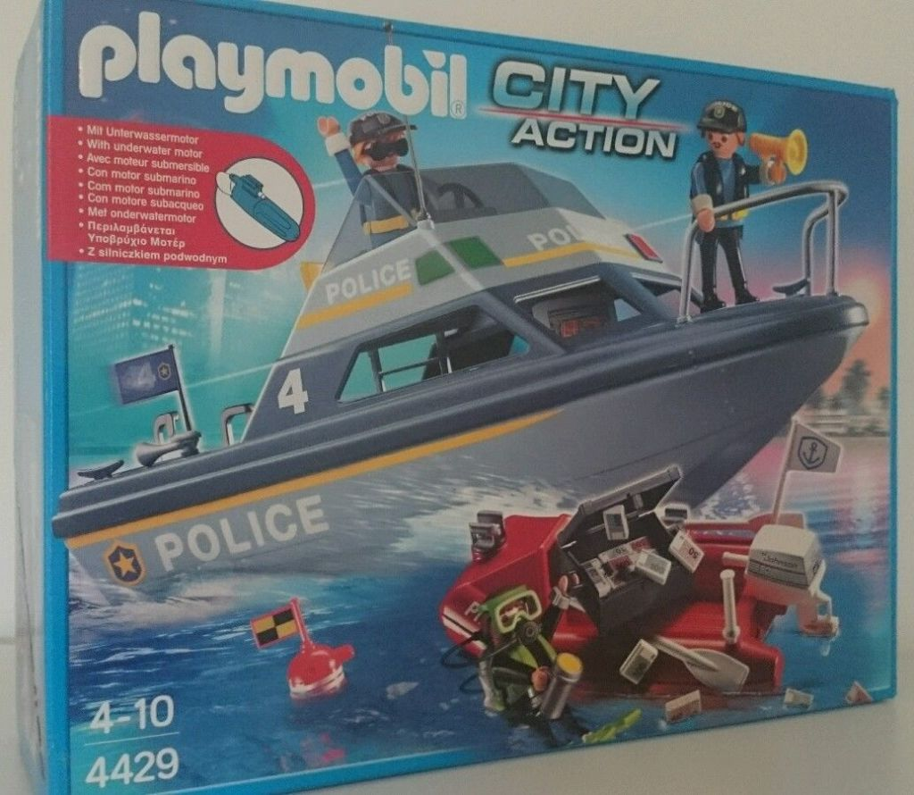 Playmobil 4429v1 - Police launch - Box