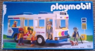 Playmobil 7151 - City Bus & Bus Stop - Box