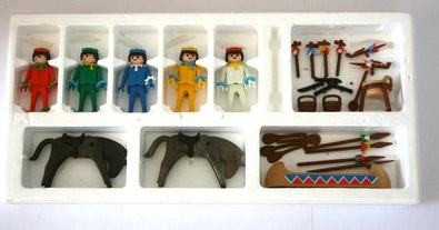 Playmobil 3250v1 - Indians with Canoe - Back