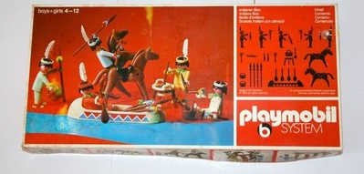 Playmobil 3250v1 - Indians with Canoe - Box
