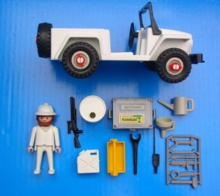 Playmobil 3679v1 - Safari-Jeep - Back