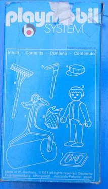 Playmobil 3314v1 - Construction Worker - Back