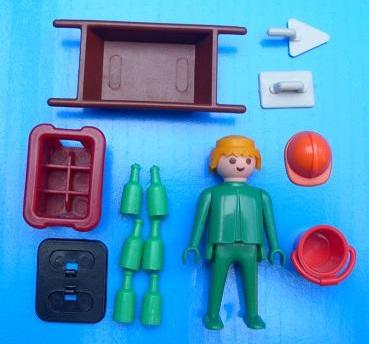 Playmobil 3312v2 - Construction Worker - Back