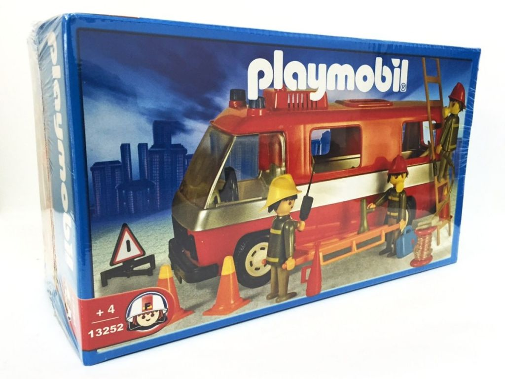 Playmobil 13252-ant - Firemen and truck - Box