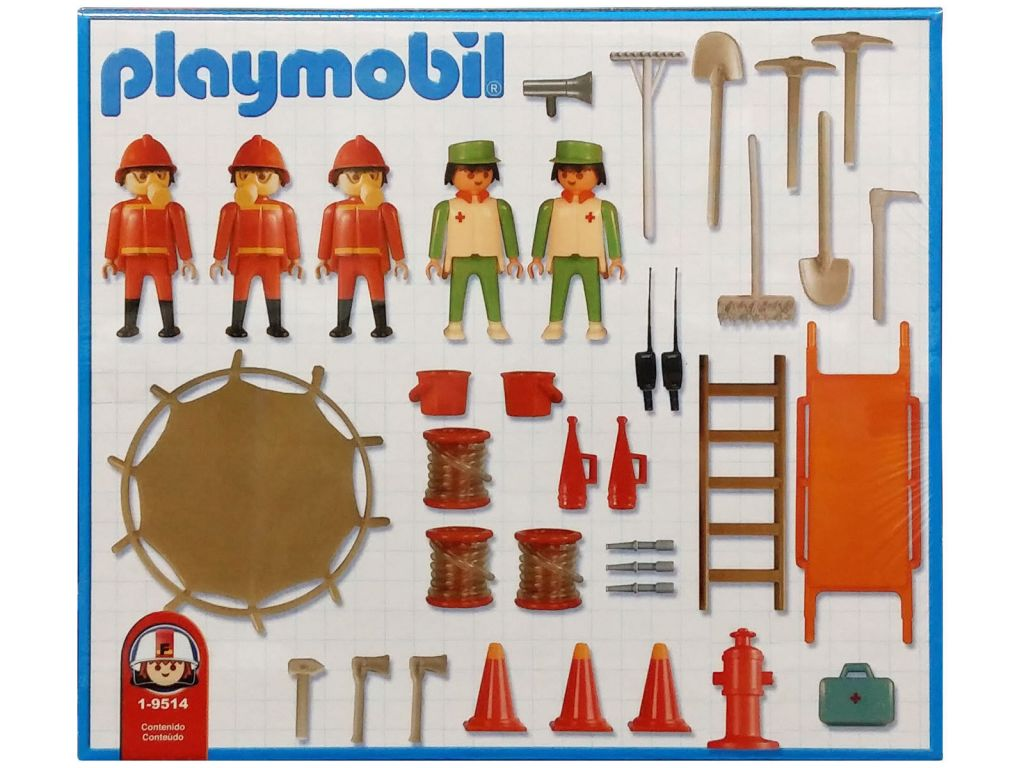 Playmobil 1-9514-ant - Feuerwehrmänner und Mediziner - Zurück