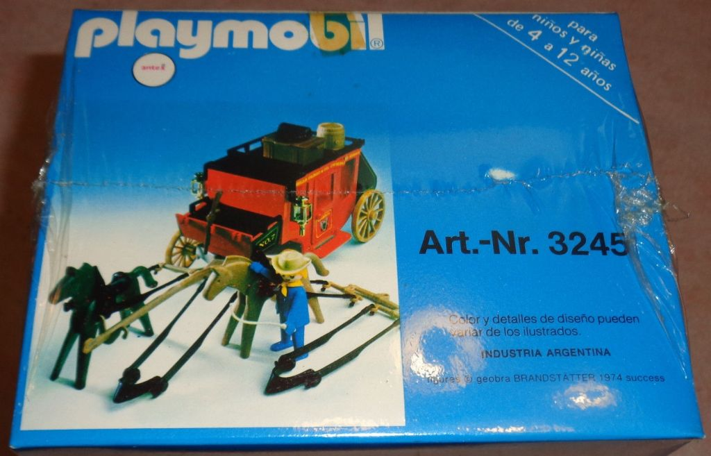Playmobil 3245-ant - Red stagecoach - Back