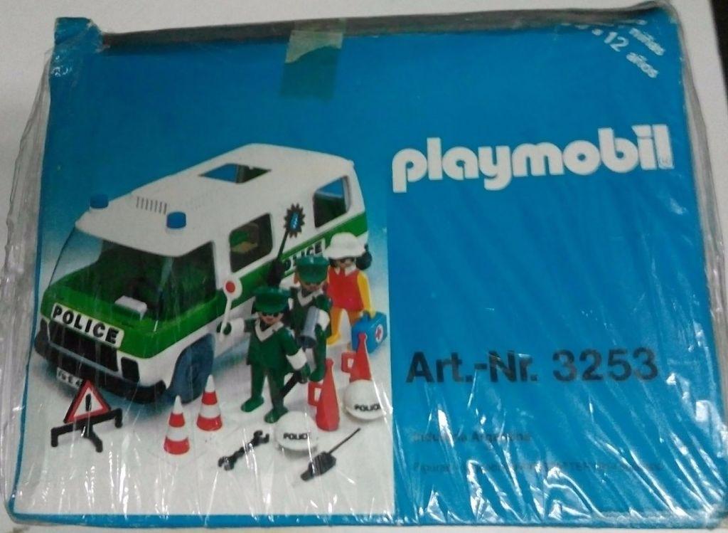 Playmobil 3253v1-ant - Police Van - Back