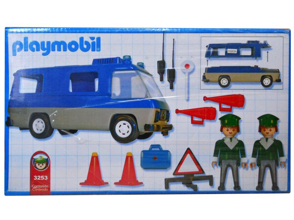 Playmobil 3253v2-ant - Police Van - Back