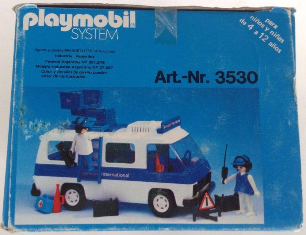 Playmobil 3530-ant - Television International van - Box