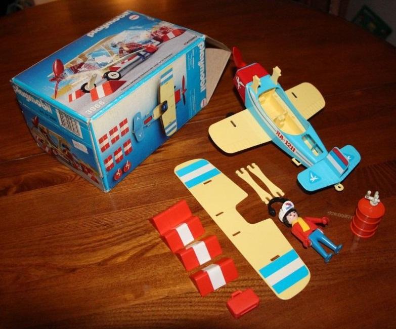 Playmobil 3966-ant - Blue & red biplane - Box