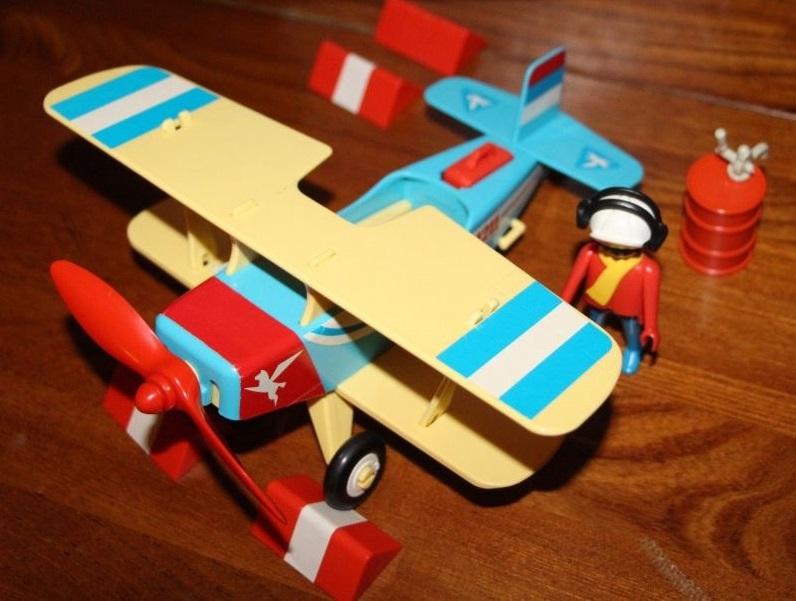 Playmobil 3966-ant - Blue & red biplane - Back