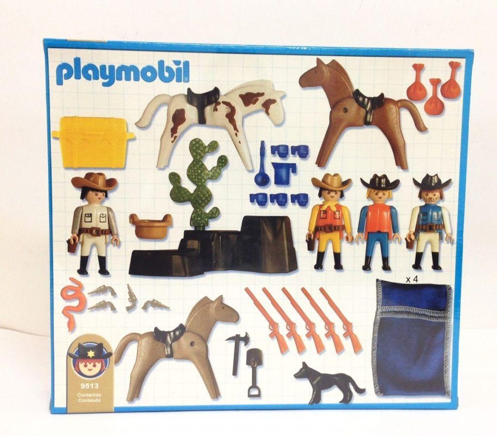Playmobil 9513-ant - Cowboys camp - Back