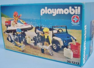 Playmobil - 30.12.12-est - Blue jeep & speedboat