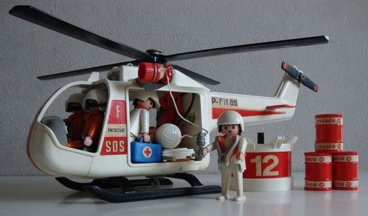 Playmobil 30.14.24-est - White Rescue Helicopter - Back