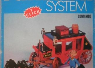 Playmobil - 3245-fam - Red stagecoach