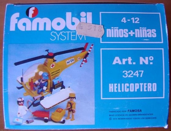 Playmobil 3247-fam - Rescue helicopter - Box