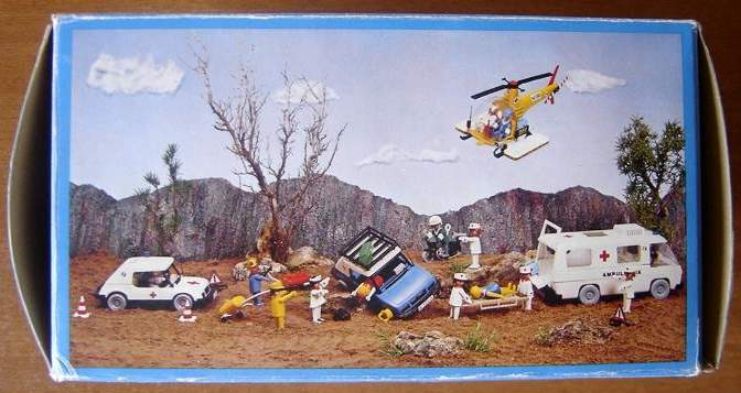 Playmobil 3247-fam - Rescue helicopter - Back