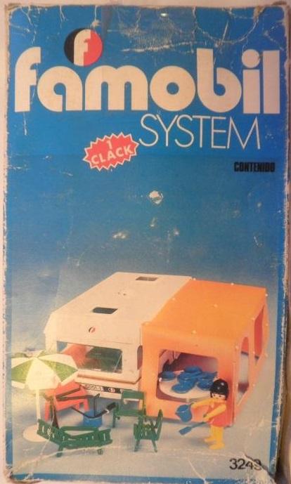 Playmobil 3249v1-fam - Caravan / orange awning - Back