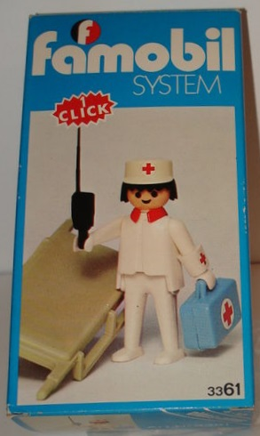 Playmobil 3361-fam - Nurse / stretcher - Box
