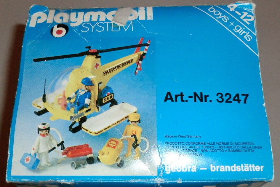 Playmobil 3247v1-ita - Rescue helicopter - Box