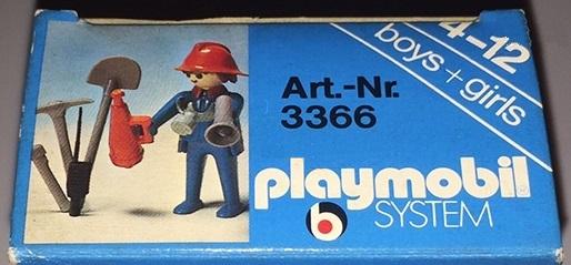 Playmobil 3366-ita - Fireman & loudspeaker - Box