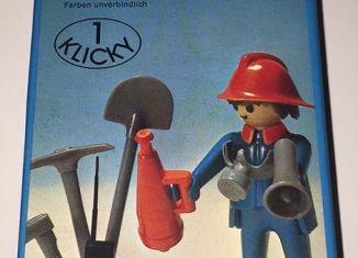 Playmobil - 3366-ita - Fireman & loudspeaker