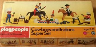 Playmobil - 1730-pla - Cowboys and Indians Super Set