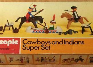 Playmobil - 1730-pla - Cowboys and Indians Super Set