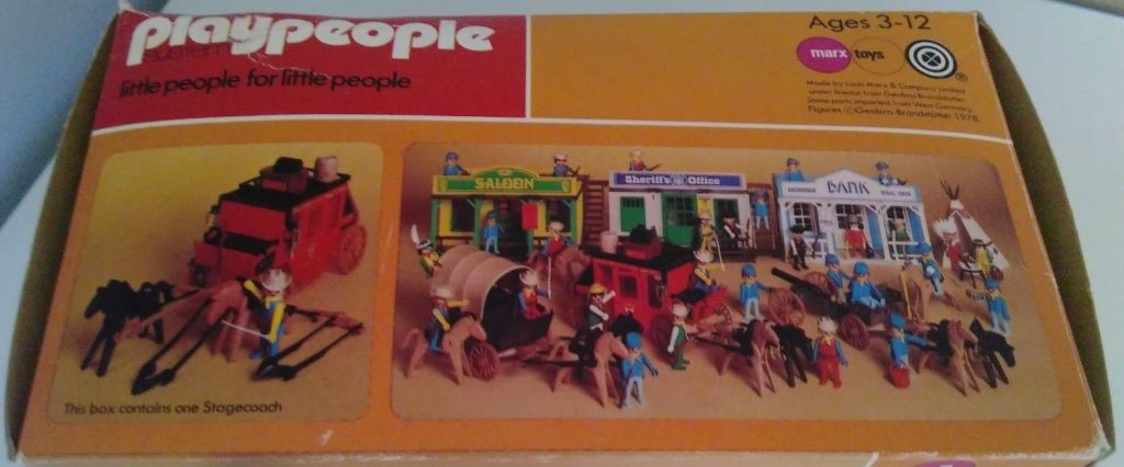 Playmobil 1736-pla - Red stagecoach - Back
