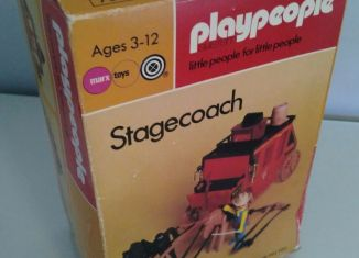 Playmobil - 1736-pla - Red stagecoach