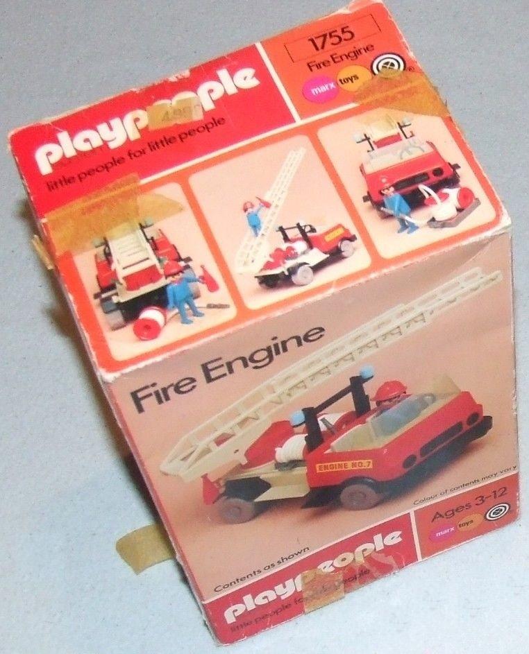 Playmobil 1755v1-pla - Fire Engine - Box