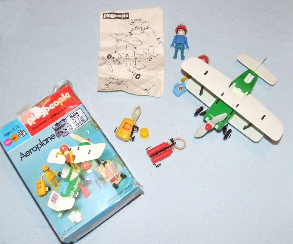 Playmobil 1766-pla - Biplane - Back